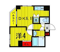 Terrace東浅草[501号室]の間取り