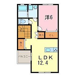 仮)永井様新築アパート[202号室]の間取り