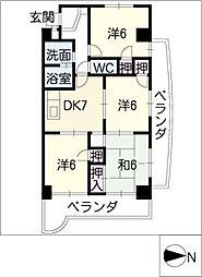 エステート23[4階]の間取り