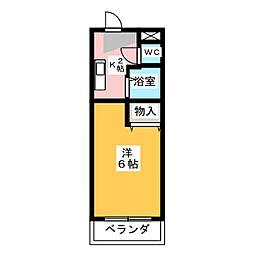 メゾンハクサン[2階]の間取り