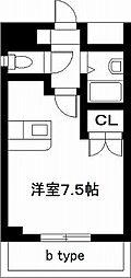 エスポワール鶴島[402号室]の間取り