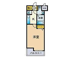ダイナコートエスタディオ平尾駅前[2階]の間取り