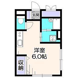 東京都西東京市保谷町3丁目の賃貸マンションの間取り