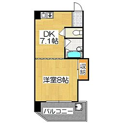 シャトー庵[6D号室]の間取り
