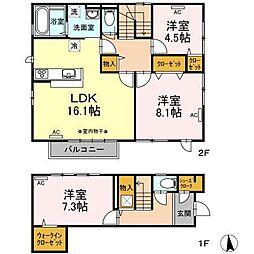 EAST-HOUSE湊高台[102号室]の間取り