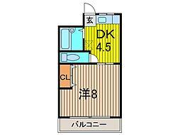 パーサス松坂[305号室]の間取り