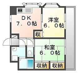 サン・オーレ久松 JA[2階]の間取り