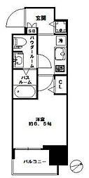 スワンズシティ北堀江[2階]の間取り