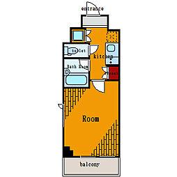 ルーブル大島[5階]の間取り
