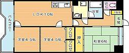 オークランドヒルズ八幡[13階]の間取り