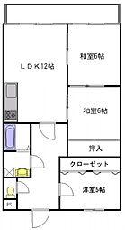 ダブルーンIII[305号室]の間取り