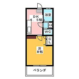 パルハイム2001A[1階]の間取り