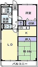 大阪府堺市北区北花田町4丁の賃貸マンションの間取り