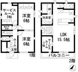 [一戸建] 東京都板橋区大和町 の賃貸【/】の間取り