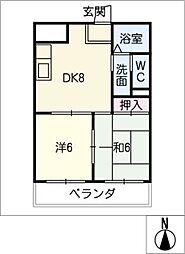 マンションメトロ[3階]の間取り