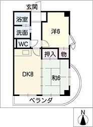 ドゥ・エトワール[10階]の間取り