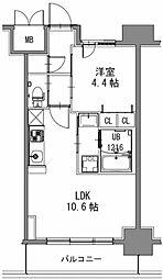 スプランディッド新大阪キャトル[2階]の間取り
