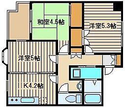 パレスフォンテーン[3階]の間取り