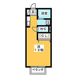 コーポハシマ[1階]の間取り