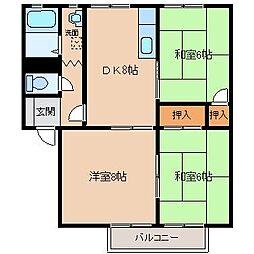 アミューズメントシティWING E[2階]の間取り