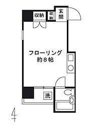 東京都台東区上野1丁目の賃貸マンションの間取り