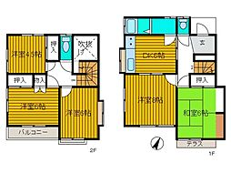 [一戸建] 神奈川県相模原市中央区東淵野辺1丁目 の賃貸【/】の間取り
