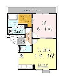 リビングタウン天理A棟[3階]の間取り