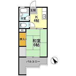 第一シャトル松島[302号室]の間取り