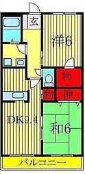 ピュアグリーン四季[3階]の間取り