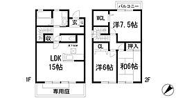 [テラスハウス] 兵庫県川西市小戸3丁目 の賃貸【/】の間取り