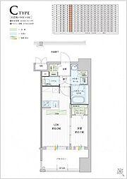 JR鹿児島本線 千早駅 徒歩4分の賃貸マンション 2階1LDKの間取り