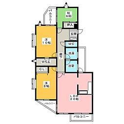 コート八事石坂[2階]の間取り