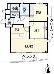 シェラトン赤塚[2階]の間取り
