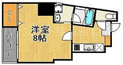 福岡県福岡市中央区平尾4の賃貸マンションの間取り