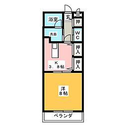 オリエンス藤ヶ丘[1階]の間取り