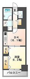 フレール江坂レジデンシャル[3階]の間取り