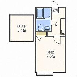 メゾンドピース[1階]の間取り