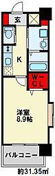 ZEGUNA(ゼグナ) 8階1Kの間取り