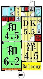 東京都足立区西新井1丁目の賃貸マンションの間取り