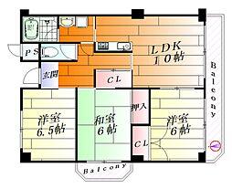 ハイタウン樽澤[3階]の間取り
