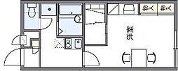 水間鉄道 水間観音駅 徒歩5分の賃貸アパート 2階1Kの間取り