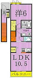 サンリット ファミーユI[2階]の間取り