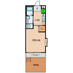 ジュネス田中[1階]の間取り