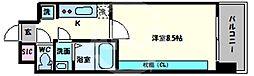 スプランディッド天王寺 6階1Kの間取り