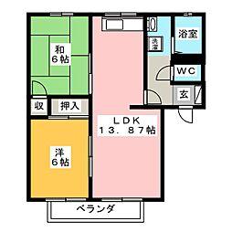 ガルテン26 C棟[2階]の間取り