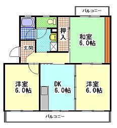 メゾンコンフォール[1階]の間取り