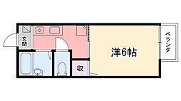 浜田12番館[201号室]の間取り