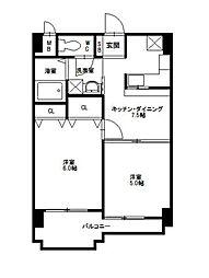 ニッセイディーセント小笹[7階]の間取り