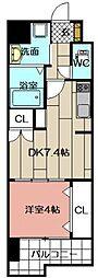 REGARIA KOKURAKITA CENTER PLACE[6階]の間取り