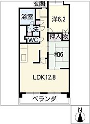 パークシティ上小田井スカイコート[5階]の間取り